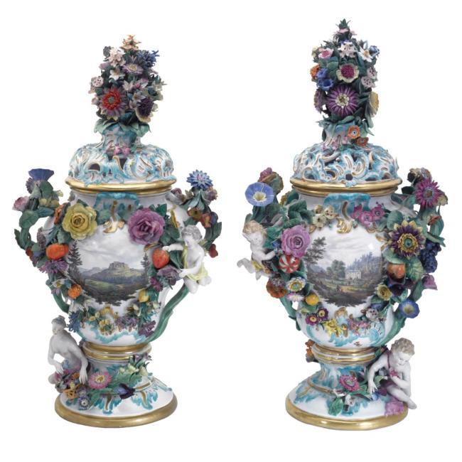 Meissen Vases Vase And Cellar Image Avorcor